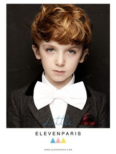 Little Eleven, Paris - redheared kid with oversized bow tie