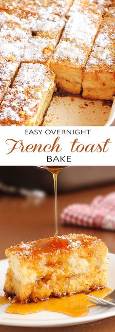 The perfect start to your tomorrow can be put together right now. This Easy Overnight French toast bake just happens to be perfect for cold winter mornings, lazy weekend mornings, or as an easy, make-ahead Christmas morning breakfast. Breakfast Desayunos, Breakfast Dishes, Breakfast Recipes, East Breakfast Ideas, Wedding Breakfast, Christmas Morning Breakfast, Christmas Brunch, Christmas Baking, French Christmas Food