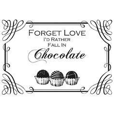 Chocolate Printable - facilisimo.com