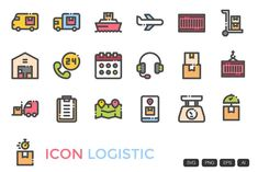 Vector Format, All Icon, Line Icon, Outline, Clip Art, Delivery, Things To Sell, Digital, Illustration