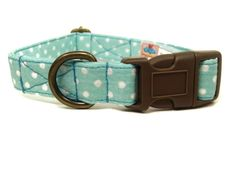Mint n Chip - Mint Green White Polka Dot Organic Cotton Pet Collar - Handmade in the USA >>> Read more reviews of the product by visiting the link on the image. (This is an affiliate link and I receive a commission for the sales)