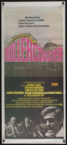 Rollercoaster (R1978) Aust daybill George Segal, Richard Widmark,Timothy Bottoms