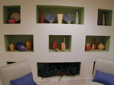 Recessed Shelves Above Fireplace Design Ideas, Pictures, Remodel, and Decor - page 45