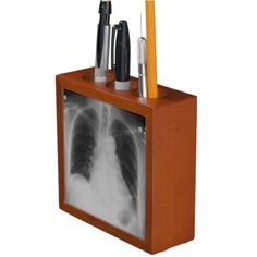 The perfect novelty pen holder for a doctor or medical student - perfect for the radiographer or radiologist, featuring an image of a chest x-ray.