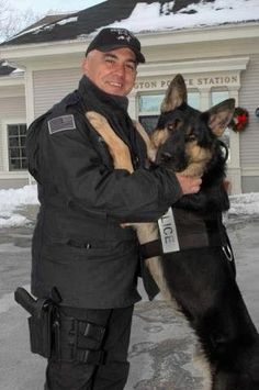 Officer Papsadero and K9 Alex from Massachusetts. .....Photo: K9 Heroes