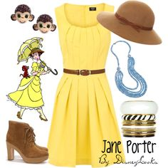 This girl's Polyvore is the most amazing thing ever. All outfits are inspired by Disney characters. (!!!)