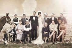 family portrait, 60s inspired romantic Sicilian wedding, photographer Signe Vilstrup for Vanity Fair Italy #editorial