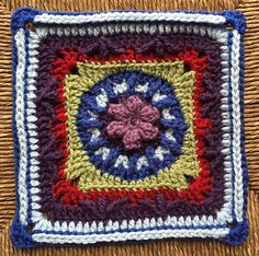 Ravelry:  Flower and Trebles Square free crochet square pattern by Amelia Beebe. Notes and mods on project page.