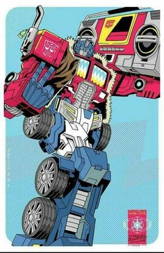 Optimus with massive boombox