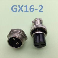 "1 set GX16 2 פין זכר ונקבת חוט קוטר 16 מ""מ מחבר לוח Gx16 מחבר עגול שקע תקע תעופה L70 משלוח חינם"