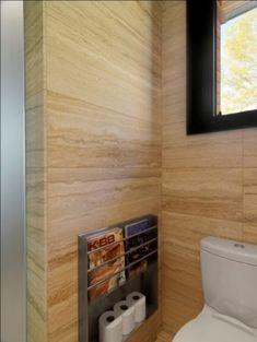 toilet roll + magazine rack