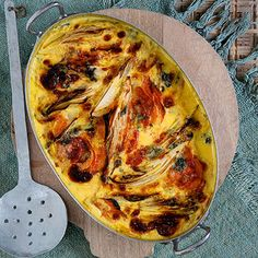 Chicorée-Süßkartoffel-Auflauf Rezept | Küchengötter