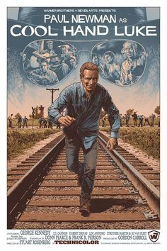 Directed by Stuart Rosenberg. With Paul Newman, George Kennedy, Strother Martin, J. A laid back Southern man is sentenced to two years in a rural prison, but refuses to conform. Jackson, Cool Posters, Film Posters, Badass Movie, Cool Hand Luke, Fiction Movies, Cinema, Marvel Films, Alternative Movie Posters