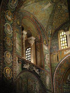 Mosaic glamor in Ravenna by andersvolker San Vitale