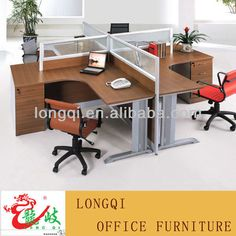 modern high quality office system furniture open plan glass cubicle modular workstation aluminium frame and panel with metal leg $490~$510