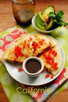 California Quesadillas with Honey-Balsamic Dipping Sauce | Iowa Girl Eats