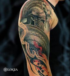 ☆ Best tattoos ideas for your tattoo, Schulterpanzer Tattoo, Tattoo Roman, Cover Tattoo, Gladiator Tattoo, Warrior Tattoos, Viking Tattoos, Norse Tattoo, Tattoo Sleeve Designs, Sleeve Tattoos