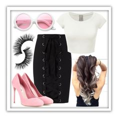 """""""08.30.16"""" by itsyulianagonz ❤ liked on Polyvore featuring Exclusive for Intermix, Miu Miu and ZeroUV"""