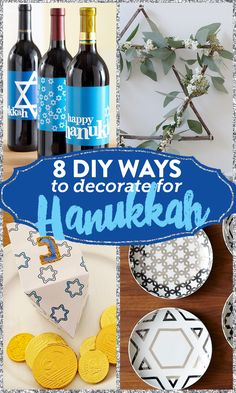 Your Hanukkah decorations can reflect your own personal style, be it kitschy or glam.