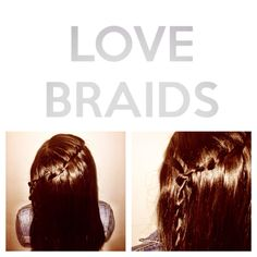 Waterfall Braid finished with a TwistBraid