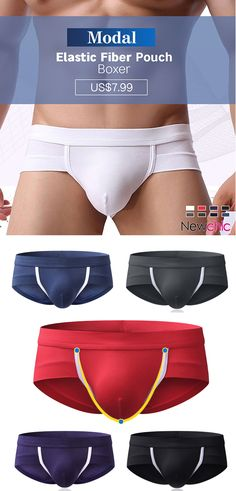 71fbdc8610  Buy 3 get 10% OFF Mens Modal Breathable Elastic Fiber Soft Patchwork Sexy