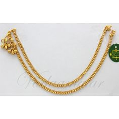 Payal Anklets 2 nos Micro Gold plated Leg Ornament Indian anklet Jewelery