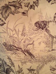 "Brunschwig & Fils ""On Point""  Dog Hunt Toile Fabric"