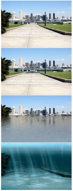 Another view of San Diego Sea Level Rise at 6ft, 12ft, and 25ft