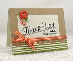 Thank You Handmade Card by banders03 on Etsy
