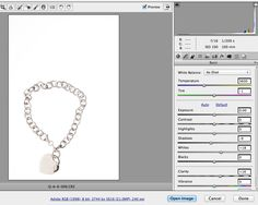 adobe camera raw converter settings for jewelry photography
