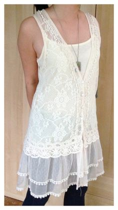2 Pieces Lace Tunic