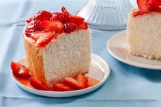 Orange angel cake strawberries - Recipe ~ Good Cake Food