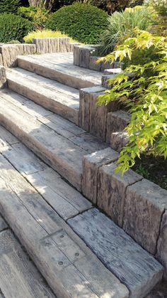 # Häusler petrified wooden beams, steps etc. - Let your creativity . - # Cottagers Petrified wooden beams, steps etc. – let your creativity run free – everything is p - Garden Structures, Garden Paths, Back Gardens, Outdoor Gardens, Sleepers In Garden, Landscape Design, Garden Design, Outdoor Steps, Garden Stairs