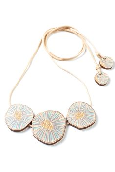 Different for me - Polli Wooden Fungi Swiss Necklace - Womens Necklaces at Birdsnest Women's Fashion