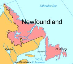 St Johns, on the map! My Ancestors, New Brunswick, Bing Images, Labrador, My Favorite Things, St John's, Earth, Map, Spaces