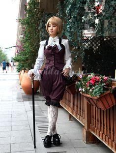 Aristocrat Long Sleeves Polyester Mahogany Lolita Outfits - Lolitashow.com