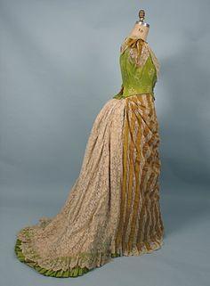 English Printed Silk Evening Dress, c. 1885 Session 2 - Lot 620 - $350