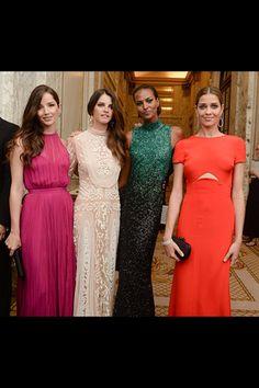 Renata Maciel, Jeisa Chiminazzo, with Ana Khouri jewels, Yasmin Warsame, and Ana Beatriz Barros.