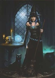 Black Cat and Witch Greeting Cards                                                                                                                                                                                 More