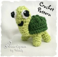 CROCHET PATTERN for EOS Turtle Lip Balm Holder or stuffed animal Pdf Format Instant Download.  Make a cute holder for your eos! HeartspunByWendy 2.99 USD September 29 2015 at 02:53PM