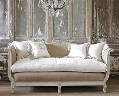 Antique Daybed French Sofa from Full Bloom Cottage French Country Sofa, French Style Sofa, French Daybed, Country Sofas, French Sofa, Country Furniture, French Furniture, Cheap Furniture, Furniture Design