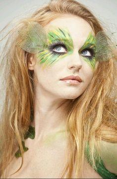 Beautiful green fairy makeup