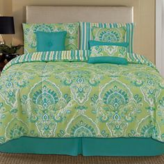 Dannica 7-pc. Comforter Set - jcpenney-  all 7 pieces for only $100 with the 50% off coupon and free shipping!  Is it too green and blue?