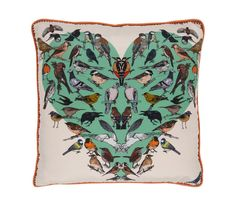 BOUNTEOUS BIRDS LUXURY SILK CUSHION | silken favours