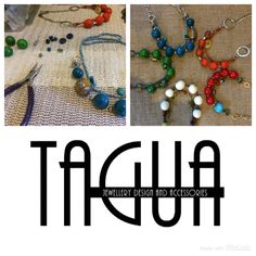 TAGUA is a sample of creative Jewelry, Bijouterie and Accesories' design made with material from Latin America.