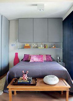 Extensão do armário sobre a cama