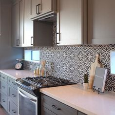 So happy to see more #cementtiles at today's staging  #homestaging #design #kitchen #backsplash