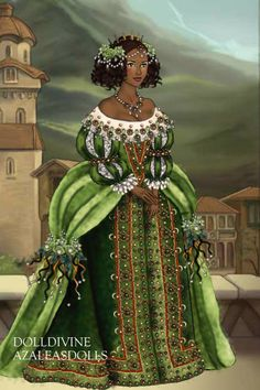 Posh Baroque Tiana ~ by Inanna ~ created using the LotR Hobbit doll maker | DollDivine.com
