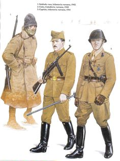 Romanian Army field uniforms of WWII.