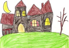 Art Projects for Kids: How to Draw A Haunted House